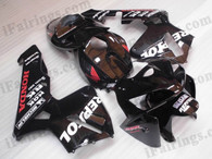 OEM factory quality fairings and body kits for 2005 2006 Honda CBR600RR with custom Repsol color scheme/graphics, this oem replacement fairing sets are oem quality, fast shipping and easy installation. The 2005 2006 CBR600RR fairings can also be customized.