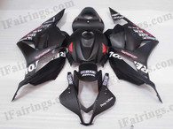 OEM quality fairings and body kits for 2009 2010 2011 2012 Honda CBR600RR with black with Repsol stickers scheme/graphcis, this aftermarket fairing kit is oem quality, fast shipping and easy installation. This model fairing 2009 2010 2011 2012 CBR600RR can be customized.