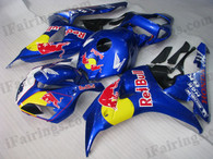 Honda CBR1000RR 2006 2007 red bull fairing kits, this Honda CBR1000RR 2006 2007 plastics was applied in red bullgraphics, this 2006 2007 CBR1000RR fairing set comes with the both color and decals shown as the photo.If you want to do custom fairings for CBR1000RR 2006 2007,our talented airbrusher will custom it for you.