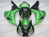 OEM quality fairings and body kits for 2006 2007 Honda CBR1000RR with green and black color scheme/graphics, these fairing kits are oem quality, fast shipping and easy installtion. More factory color-matched fairings for CBR1000RR 2006 2007, team race replica fairings and custom fairing sets for Honda CBR1000RR 2006 2007, please browse iFairings.com.