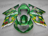 OEM quality fairings and body kits for 2001 2002 2003 Suzuki GSXR600/750 with Movistar Telefonica color scheme/graphics, these fairing kits are oem quality, fast shipping and easy installtion. More factory color-matched fairings for GSXR600/750 2001 2002 2003, team race replica fairings and custom fairing sets for Suzuki GSXR600/750 2001 2002 2003, please browse iFairings.com.