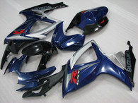 OEM quality fairings and body kits for 2006 2007 Suzuki GSXR600/750 with blue and black factory color scheme/graphics, these fairing kits are oem quality, fast shipping and easy installtion. More factory color-matched fairings for GSXR600/750 2006 2007, team race replica fairings and blue and black factory fairing sets for Suzuki GSXR600/750 2006 2007, please browse iFairings.com.
