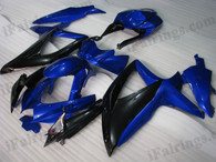OEM quality fairings and body kits for 2008 2009 2010 Suzuki GSXR600/750 with blue and black color scheme/graphics, these fairing kits are oem quality, fast shipping and easy installtion. More factory color-matched fairings for GSXR600/750 2008 2009 2010, team race replica fairings and custom fairing sets for Suzuki GSXR600/750 2008 2009 2010, please browse iFairings.com.