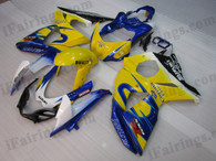 OEM quality fairings and body kits for 2009 2010 2011 2012 Suzuki GSXR1000 with Corona replica color scheme/graphics, these fairing kits are oem quality, fast shipping and easy installtion. More factory color-matched fairings for GSXR1000 2009 2010 2011 2012, team race replica fairings and custom fairing sets for Suzuki GSXR1000 2009 2010 2011 2012, please browse iFairings.com.