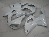 OEM quality fairings and body kits for 1998 1999 Yamaha YZF-R1 with white color scheme/graphics, these fairing kits are oem quality, fast shipping and easy installtion. More factory color-matched fairings for YZF-R1 1998 1999, team race replica fairings and custom fairing sets for Yamaha YZF-R1 1998 1999, please browse iFairings.com.