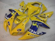 OEM quality fairings and body kits for 2002 2003 Yamaha YZF-R1 with Camel color scheme/graphics, these fairing kits are oem quality, fast shipping and easy installtion. More factory color-matched fairings for YZF-R1 2002 2003, team race replica fairings and custom fairing sets for Yamaha YZF-R1 2002 2003, please browse iFairings.com.
