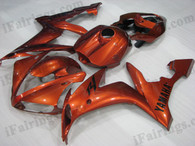 OEM quality fairings and body kits for 2004 2005 2006 Yamaha YZF-R1 with metallic orange color scheme/graphics, these fairing kits are oem quality, fast shipping and easy installtion. More factory color-matched fairings for YZF-R1 2004 2005 2006, team race replica fairings and custom fairing sets for Yamaha YZF-R1 2004 2005 2006, please browse iFairings.com.