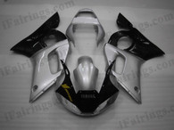 OEM quality fairings and body kits for 1998 1999 2000 2001 2002 Yamaha YZF-R6 with silver and black color scheme/graphics, these fairing kits are oem quality, fast shipping and easy installtion. More factory color-matched fairings for YZF-R6 1998 1999 2000 2001 2002, team race replica fairings and custom fairing sets for Yamaha YZF-R6 1998 1999 2000 2001 2002, please browse iFairings.com.