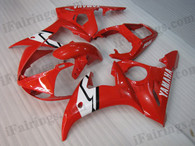 OEM quality fairings and body kits for 2003 2004 2005 Yamaha YZF-R6 with red color scheme/graphics, these fairing kits are oem quality, fast shipping and easy installtion. More factory color-matched fairings for YZF-R6 2003 2004 2005, team race replica fairings and custom fairing sets for Yamaha YZF-R6 2003 2004 2005, please browse iFairings.com.
