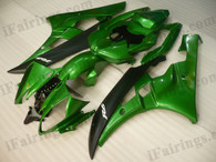 OEM quality fairings and body kits for 2006 2007 Yamaha YZF-R6 with green and black color scheme/graphics, these fairing kits are oem quality, fast shipping and easy installtion. More factory color-matched fairings for YZF-R6 2006 2007, team race replica fairings and custom fairing sets for Yamaha YZF-R6 2006 2007, please browse iFairings.com.