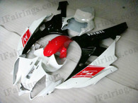 OEM quality fairings and body kits for 2006 2007 Yamaha YZF-R6 with red, white and black color scheme/graphics, these fairing kits are oem quality, fast shipping and easy installtion. More factory color-matched fairings for YZF-R6 2006 2007, team race replica fairings and custom fairing sets for Yamaha YZF-R6 2006 2007, please browse iFairings.com.