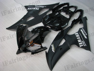 OEM quality fairings and body kits for 2008 2009 2010 2011 2012 2013 Yamaha YZF-R6 with black color scheme/graphics, these fairing kits are oem quality, fast shipping and easy installtion. More factory color-matched fairings for YZF-R6 2008 2009 2010 2011 2012 2013, team race replica fairings and custom fairing sets for Yamaha YZF-R6 2008 2009 2010 2011 2012 2013, please browse iFairings.com.