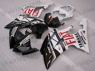 OEM quality fairings and body kits for 2008 2009 2010 2011 2012 2013 Yamaha YZF-R6 with black/white fiat color scheme/graphics, these fairing kits are oem quality, fast shipping and easy installtion. More factory color-matched fairings for YZF-R6 2008 2009 2010 2011 2012 2013, team race replica fairings and custom fairing sets for Yamaha YZF-R6 2008 2009 2010 2011 2012 2013, please browse iFairings.com.