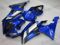 OEM quality fairings and body kits for 2008 2009 2010 2011 2012 2013 Yamaha YZF-R6 with blue color scheme/graphics, these fairing kits are oem quality, fast shipping and easy installtion. More factory color-matched fairings for YZF-R6 2008 2009 2010 2011 2012 2013, team race replica fairings and custom fairing sets for Yamaha YZF-R6 2008 2009 2010 2011 2012 2013, please browse iFairings.com.