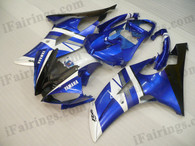 OEM quality fairings and body kits for 2008 2009 2010 2011 2012 2013 Yamaha YZF-R6 with blue/black rossi color scheme/graphics, these fairing kits are oem quality, fast shipping and easy installtion. More factory color-matched fairings for YZF-R6 2008 2009 2010 2011 2012 2013, team race replica fairings and custom fairing sets for Yamaha YZF-R6 2008 2009 2010 2011 2012 2013, please browse iFairings.com.