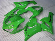 OEM quality fairings and body kits for 2005 2006 Kawasaki ZX6R Ninja with green color scheme/graphics, these fairing kits are oem quality, fast shipping and easy installtion. More factory color-matched fairings for ZX6R Ninja 2005 2006, team race replica fairings and custom fairing sets for Kawasaki ZX6R Ninja 2005 2006, please browse iFairings.com.