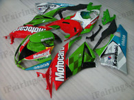 OEM quality fairings and body kits for 2009 2010 2011 2012 Kawasaki ZX6R ZX636 Ninja with Motocard color scheme/graphics, these fairing kits are oem quality, fast shipping and easy installtion. More factory color-matched fairings for ZX6R ZX636 Ninja 2009 2010 2011 2012, team race replica fairings and custom fairing sets for Kawasaki ZX6R ZX636 Ninja 2009 2010 2011 2012, please browse iFairings.com.