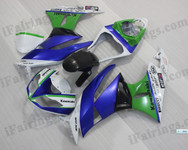 OEM quality fairings and body kits for 2009 2010 2011 2012 Kawasaki ZX6R ZX636 Ninja with customized scheme color scheme/graphics, these fairing kits are oem quality, fast shipping and easy installtion. More factory color-matched fairings for ZX6R ZX636 Ninja 2009 2010 2011 2012, team race replica fairings and custom fairing sets for Kawasaki ZX6R ZX636 Ninja 2009 2010 2011 2012, please browse iFairings.com.