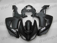 OEM quality fairings and body kits for 2006 2007 Kawasaki ZX10R with matt black color scheme/graphics, these fairing kits are oem quality, fast shipping and easy installtion. More factory color-matched fairings for ZX10R 2006 2007, team race replica fairings and custom fairing sets for Kawasaki ZX10R 2006 2007, please browse iFairings.com.