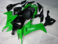 OEM quality fairings and body kits for 2008 2009 2010 Kawasaki ZX10R with green and black color scheme/graphics, these fairing kits are oem quality, fast shipping and easy installtion. More factory color-matched fairings for ZX10R 2008 2009 2010, team race replica fairings and custom fairing sets for Kawasaki ZX10R 2008 2009 2010, please browse iFairings.com.