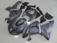 Top quality motorcycle fairing sets for Kawasaki ZX6R Nina 636 2007 2008 in matte black. This Kawsaki Ninja 636 2007 2008 was sprayed matte black with kawasaki decals.