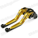 Gold/Black CNC adjustable folding and extendable levers for Honda CBR600 F3 1995 to 2007 (F-18/H-626). Our levers are designed as a direct replacement of the stock levers but more benefit over the stock ones.