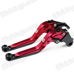 Red/Black CNC adjustable folding and extendable levers for Honda CBR600RR 2007 to 2012 (F-33/Y-688H). Our levers are designed as a direct replacement of the stock levers but more benefit over the stock ones.