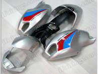 Motorcycle fairings for Ducati Monster 696/796/1100 silver, these fairings are injection molded and 100% fit factory bike. All the fairings are fast and free shipping.