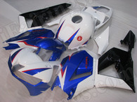 aftermarket fairing kits for 2013 2014 2015 2016 Honda CBR600RR white/blue/black paint scheme.