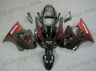 aftermarket fairings and bodywork for 2000 2001 2002 Kawasaki Ninja ZX6R, this motorcycle fairings are replacement plastic with various graphics,  they are top quality and oem fairing quality comparable. All the bodywork panels are pre-drilled and 100% precise fit factory bike.