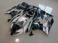 aftermarket fairings and bodywork for 2009 2010 2011 2012 Kawasaki Ninja ZX6R, this motorcycle fairings are replacement plastic with various graphics,  they are top quality and oem fairing quality comparable. All the bodywork panels are pre-drilled and 100% precise fit factory bike.