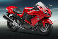 Motorcycle fairings/bodywork for Kawasaki Ninja ZX14R 2012 to 2015 red and black.