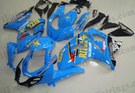 Suzuki GSXR1000 2009 2010 Rizla replica fairing kits, this Suzuki GSXR1000 2009 2010 plastics was applied in Rizla replica graphics, this 2009 2010 GSXR1000 fairing set comes with the both color and decals shown as the photo.If you want to do custom fairings for GSXR1000 2009 2010,our talented airbrusher will custom it for you.