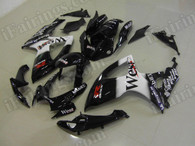 aftermarket fairings and bodywork for 2006 2007 Suzuki GSX R 600/750, this motorcycle fairings are replacement plastic with various graphics,  they are top quality and oem fairing quality comparable. All the bodywork panels are pre-drilled and 100% precise fit factory bike.