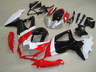 aftermarket fairings and bodywork for 2008 2009 2010 Suzuki GSX R 600/750, this motorcycle fairings are replacement plastic with various graphics,  they are top quality and oem fairing quality comparable. All the bodywork panels are pre-drilled and 100% precise fit factory bike.