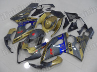 aftermarket fairings and bodywork for 2005 2006 Suzuki GSXR 1000, this motorcycle fairings are replacement plastic with various graphics,  they are top quality and oem fairing quality comparable. All the bodywork panels are pre-drilled and 100% precise fit factory bike.