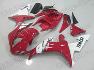 aftermarket fairings and bodywork for 2002 2003 Yamaha YZF R1, this motorcycle fairings are replacement plastic with various graphics,  they are top quality and oem fairing quality comparable. All the bodywork panels are pre-drilled and 100% precise fit factory bike.