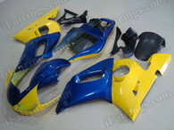 aftermarket fairings and bodywork for 1998 to 2002 Yamaha YZF R6, this motorcycle fairings are replacement plastic with various graphics,  they are top quality and oem fairing quality comparable. All the bodywork panels are pre-drilled and 100% precise fit factory bike.