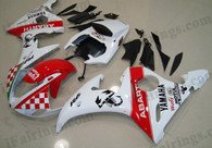 Yamaha YZF-R6 2003 2004 2005 Abarth replica fairing kits, this Yamaha YZF-R6 2003 2004 2005 plastics was applied in Abarth replicagraphics, this 2003 2004 2005 YZF-R6 fairing set comes with the both color and decals shown as the photo.If you want to do custom fairings for YZF-R6 2003 2004 2005,our talented airbrusher will custom it for you.