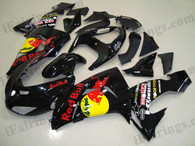 Kawasaki ZX10R 2006 2007 red bull replica fairing kits, this Kawasaki ZX10R 2006 2007 plastics was applied in red bull replicagraphics, this 2006 2007 ZX10R fairing set comes with the both color and decals shown as the photo.If you want to do custom fairings for ZX10R 2006 2007,our talented airbrusher will custom it for you.