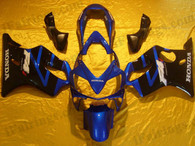 Honda CBR600 F4i 2004 2005 2006 2007 blue and black fairing kits, this Honda CBR600 F4i 2004 2005 2006 2007 plastics was applied in blue and black graphics, this 2004 2005 2006 2007 CBR600 fairing set comes with the both color and decals shown as the photo.If you want to do custom fairings for CBR600 F4i 2004 2005 2006 2007,our talented airbrusher will custom it for you
