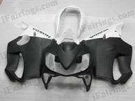 Quality aftermarket fairing kits for 2004 2005 2006 2007 Honda CBR600 F4i with black and white color scheme/graphics. This fairing set is oem factory quality, fast shipping and easy installtion.