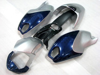 Motorcycle fairings for Ducati Monster 696/796/1100 silver and blue, these fairings are injection molded and 100% fit factory bike. All the fairings are fast and free shipping.