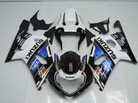 aftermarket fairings and bodywork for 2001 2002 2003 Suzuki GSX R 600/750, this motorcycle fairings are replacement plastic with various graphics,  they are top quality and oem fairing quality comparable. All the bodywork panels are pre-drilled and 100% precise fit factory bike.