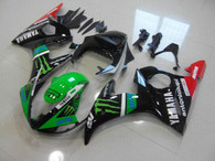 aftermarket fairings and bodywork for 2003 2004 2005 Yamaha YZF R6, this motorcycle fairings are replacement plastic with various graphics,  they are top quality and oem fairing quality comparable. All the bodywork panels are pre-drilled and 100% precise fit factory bike.