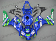 Honda CBR1000RR 2006 2007 Movistar fairing kits, this Honda CBR1000RR 2006 2007 plastics was applied in Movistargraphics, this 2006 2007 CBR1000RR fairing set comes with the both color and decals shown as the photo.If you want to do custom fairings for CBR1000RR 2006 2007,our talented airbrusher will custom it for you.