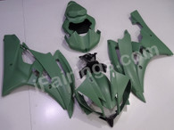 aftermarket fairings and bodywork for 2006 2007 Yamaha YZF R6 in army matte green scheme.