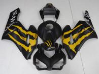 2004 2005 Honda CBR1000RR Matte Black Fairing With Monster Emblem. Honda CBR1000RR Replacement Fairing Monster