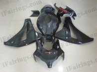 OEM quality fairings and body kits for 2008 2009 2010 2011 Honda CBR1000RR with glossy black color scheme/graphics, these fairing kits are oem quality, fast shipping and easy installtion. More factory color-matched fairings for CBR1000RR 2008 2009 2010 2011, team race replica fairings and custom fairing sets for Honda CBR1000RR 2008 2009 2010 2011, please browse iFairings.com.