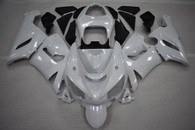 2005 2006 Kawasaki ZX-6R 636 Pearl white fairings.